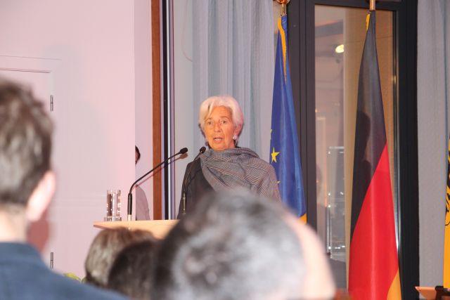 Die Ehrengästin Cristine Lagarde